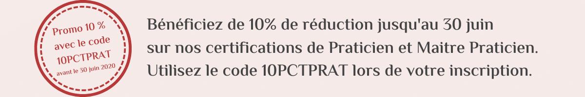 10 % de réduction sur prat et maitre prat