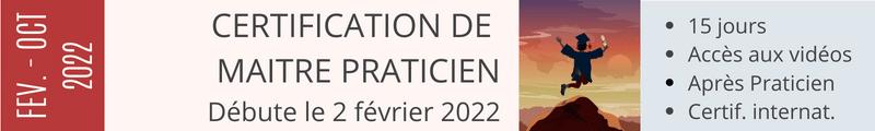 Certification de Maitre Praticien